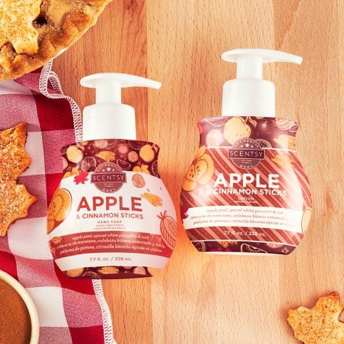 Apple & Cinnamon Sticks Hand soap and lotion bundle $17