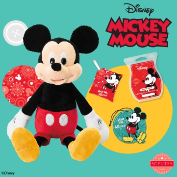 Mickey Mouse Scentsy Buddy, Scent Pak, Bar, and Scent Circle